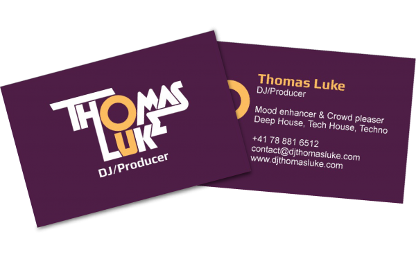 DJ Thomas Luke business cards preview - eKat Communication