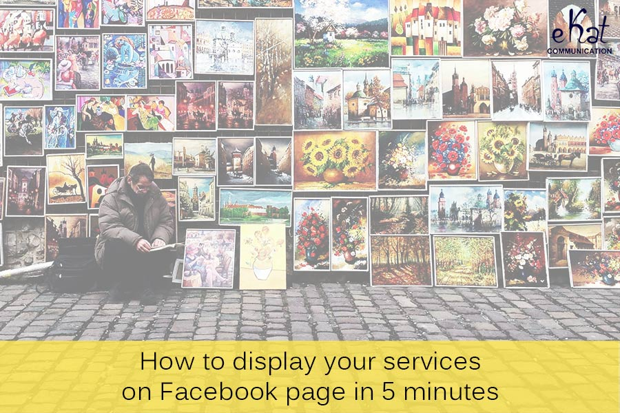 eKat Communication blog post on how to display services on Facebook page