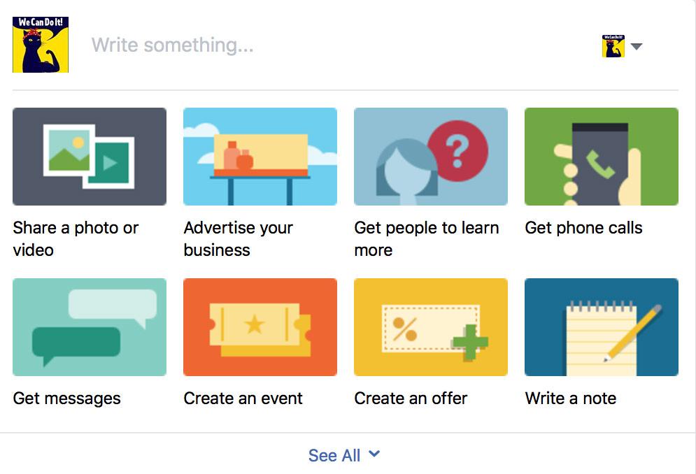 Facebook create an offer option screenshot